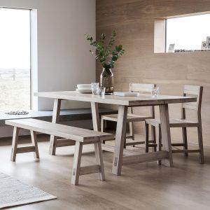 Ragnar 185cm Light Oak Dining Table