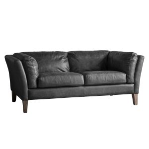 Rogate Fabric 2 Seater Sofa in Black