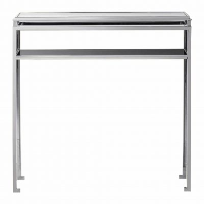 Rosario Metal Console Table in Silver