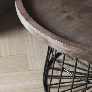 Rufus Dark Wood Round Coffee Table Image 3