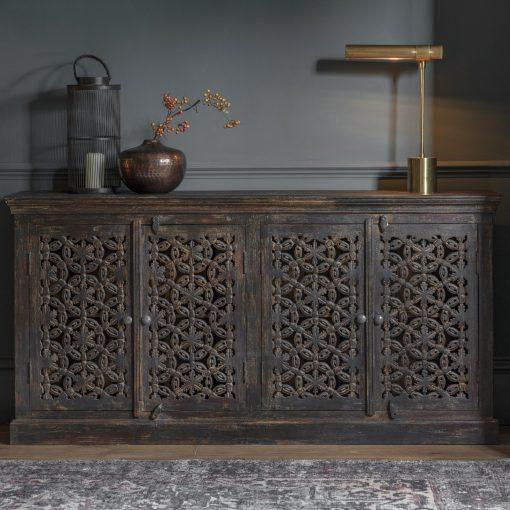 Sarana Mango Wood Sideboard in Brown