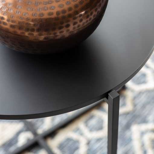 Sarana Metal Round Coffee Table in