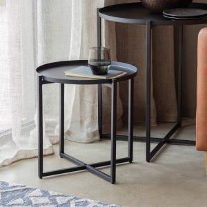 Sarana Metal Side Table in Black