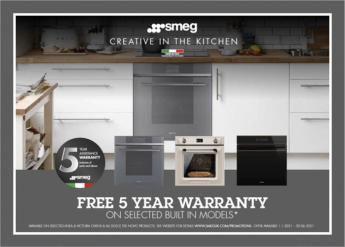 Smeg 5 year warranty built in models