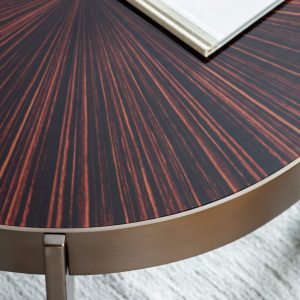 Teynham Pine Round Coffee Table in Gold Image 3