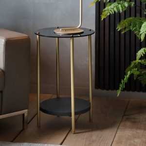 Tyler Metal Side Table in Gold