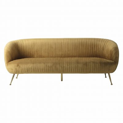 Valetta Fabric 3 Seater Sofa in Gold