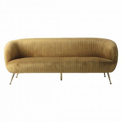 Valetta Fabric 3 Seater Sofa in Gold