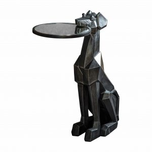 Wexley Resin Side Table in Black