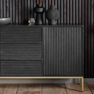 Whittle Mango Wood Sideboard in Black