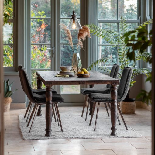 Wick 200cm Mango Wood Dining Table in Brown