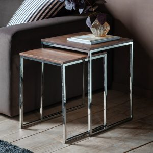 Wingham Metal Nest of 2 Tables
