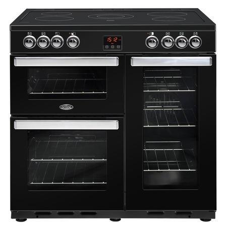 Image of Belling 444444074 CookCentre 90cm Electric Ceramic Range Cooker - Black