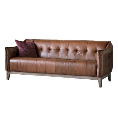 Frimley Leather 3 Seater Sofa in Brown