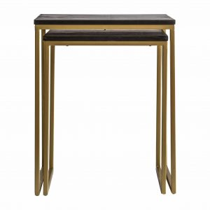 Wingham Metal Nest of 2 Tables in Gold