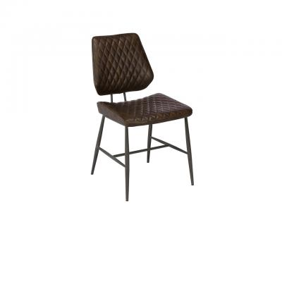 Faux Leather Dining Chair - Brown
