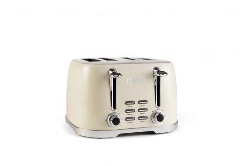 203908- Brighton Brighton Cream 4 Slice Toaster Angle