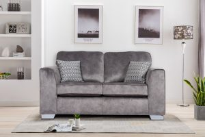 Asher 2 Seater in Elephant Fabric (2)